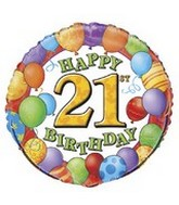 "18"" Happy 21st Birthday Balloons"