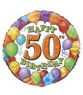 "18"" Happy 50th Birthday Balloons"