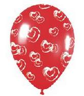 "11"" Fashion Red Painted Hearts (50 Count)"