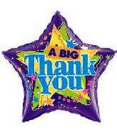 "28"" A Big Thank You Star Shape"
