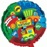 "18"" Birthday Vehicles Foil Balloon"