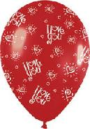 "11"" Red Love You Hearts Latex Balloons"