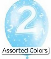 "12"" Assorted Number ""2"" Latex 72&#39s"