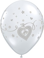 "11"" WEDDING BELLS SLV Prank Balloons (Airfill) 25ct"