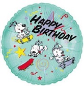 "18"" Dog Star Birthday Balloon"