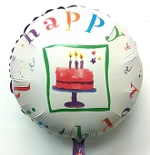 "18"" Happy Birthday Foil Balloon"