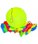 4 Count Punch Balloons Neon (Pink, Green, Yellow, Orange)
