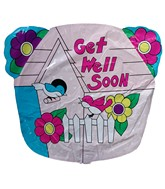 "20"" Get Well Soon Birds Jumbo Balloon (SLIGHT DAMAGE)"
