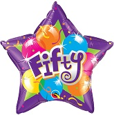 "20"" Sparkling Fifty Mylar Balloon"