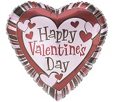 "18"" Happy Valentine&#39s Day Blast Balloon"
