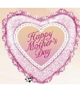 "30"" Happy Mother&#39s Day Balloon Pink Ruffle"