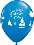 "11"" Blue Fathers Day Sailing  (25 per bag)"