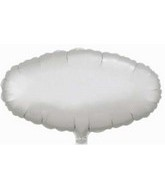 "23"" Satin Silver Oval Large Balloon(slightly damaged)"