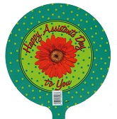 "9"" Airfill Only Happy Assistants Day Balloon"