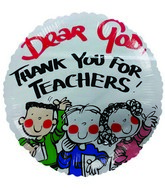 "18"" Thank you for Teachers Round Mylar Balloon"