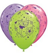 "11"" Assorted Latex Balloons Tinker Bell"
