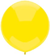 "17"" Outdoor Display Balloons (72 Count) Lemon Yellow"