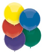 "17"" Outdoor Balloons (72 Count) Royal Rich Assortment"