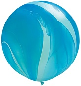 "36"" Blue Rainbow SuperAgate Balloons (2 Count)"