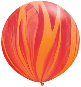 "36"" Red Orange Rainbow SuperAgate Balloons (2 Count)"