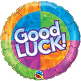 "18"" Good Luck Dots and Stars Balloon"