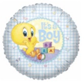 "18"" It&#39s A Boy Tweety Balloon"