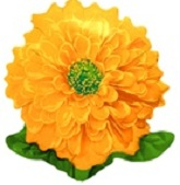 "23"" Zinnia Goldenrod Jumbo Flower Balloon"