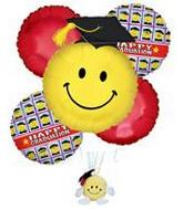 Graduation Smiley Face Stuffed Toy Bouquet