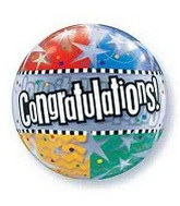 "24"" Congratulations Bubble Balloon"