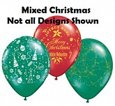 "11"" Assorted Christmas Latex Balloons"