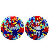 "9""  Airfill It's your Day! Celebrate Colour Splash Balloon"