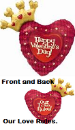 "36"" Our Love Rules Valentine&#39s Day Balloon"