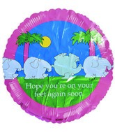 "18"" Hope You&#39re on... Elephants Pink Border"