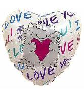 "18"" I Love You Cat Holding Heart"