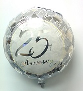"18"" 25th Anniversary Balloon"