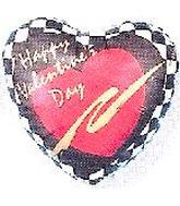 "2"" Airfill Happy Valentine&#39s Day Checkerboard M362"