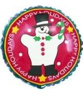"4"" Happy Holiday Snowman"