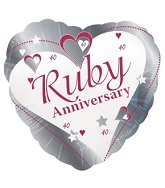 18&#39&#39 Ruby Anniversay Silver 40th