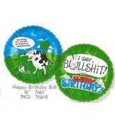 "18"" Happy Birthday Swearing Cow (BS)"
