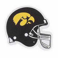 "26"" Iowa Hawkeye University Football Helmet Shape"