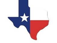 "18"" Texas Shape Texas Flag"