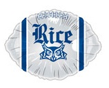"18"" Collegiate Football Rice University Balloon"