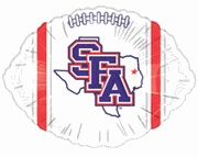 "18"" Collegiate Football Stephen F Austin"