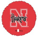"18"" Collegiate Football University Of Nebraska Rounds"