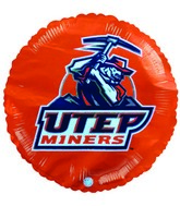 "9"" UTEP Miners Logo Football Orange Balloon Collegiate"