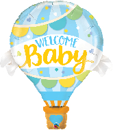 "42"" Welcome Baby Blue Balloon Foil Balloon"