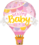 "42"" Welcome Baby Hot Air Pink Balloon Foil Balloon"
