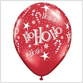 "11"" Ruby Red Latex Ho Ho  Balloons"