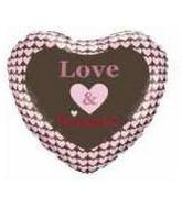 "18"" Love and Kisses Mylar Balloon"