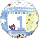 "18"" 1st Birthday Boy Balloon"